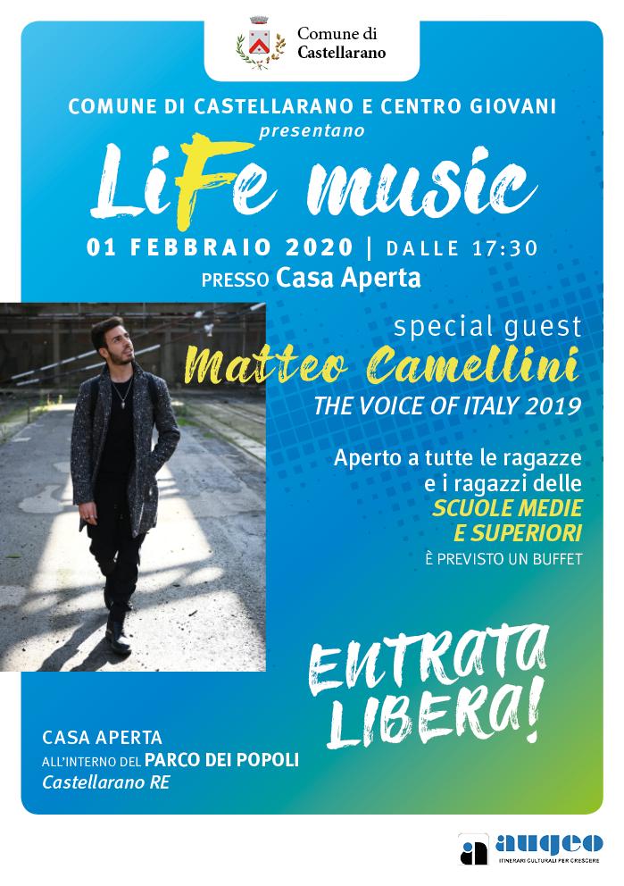 LiFe Music Locandina evento Castellarano
